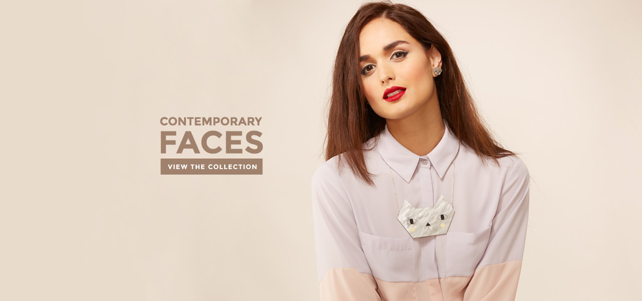 Contemporary face jewellery