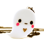 Boo the Ghost acrylic necklace
