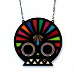 Fashionable Aztec inspired skull necklace