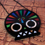 Fashionable geometric, bright Skull necklace by Little Moose
