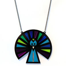 Peacock Geo Necklace by Little Moose