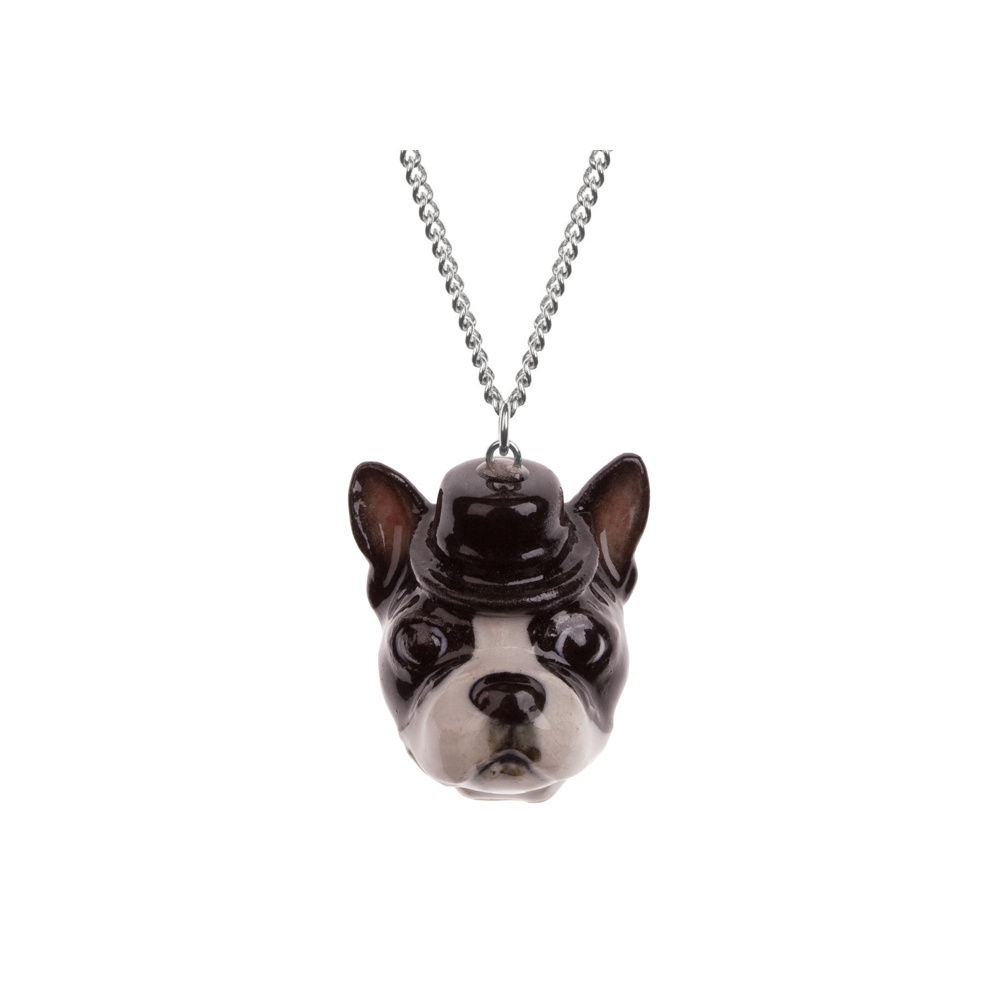 Boston Terrier Necklace By And Mary Little Moose