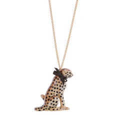 Cheetah Necklace by And Mary