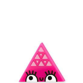 'Dont Be Square' Large Pink Triangle Brooch