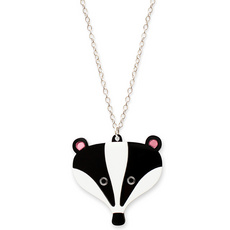 Doodllery Badger Necklace