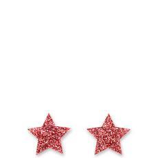 Glitter Pink Star Earrings