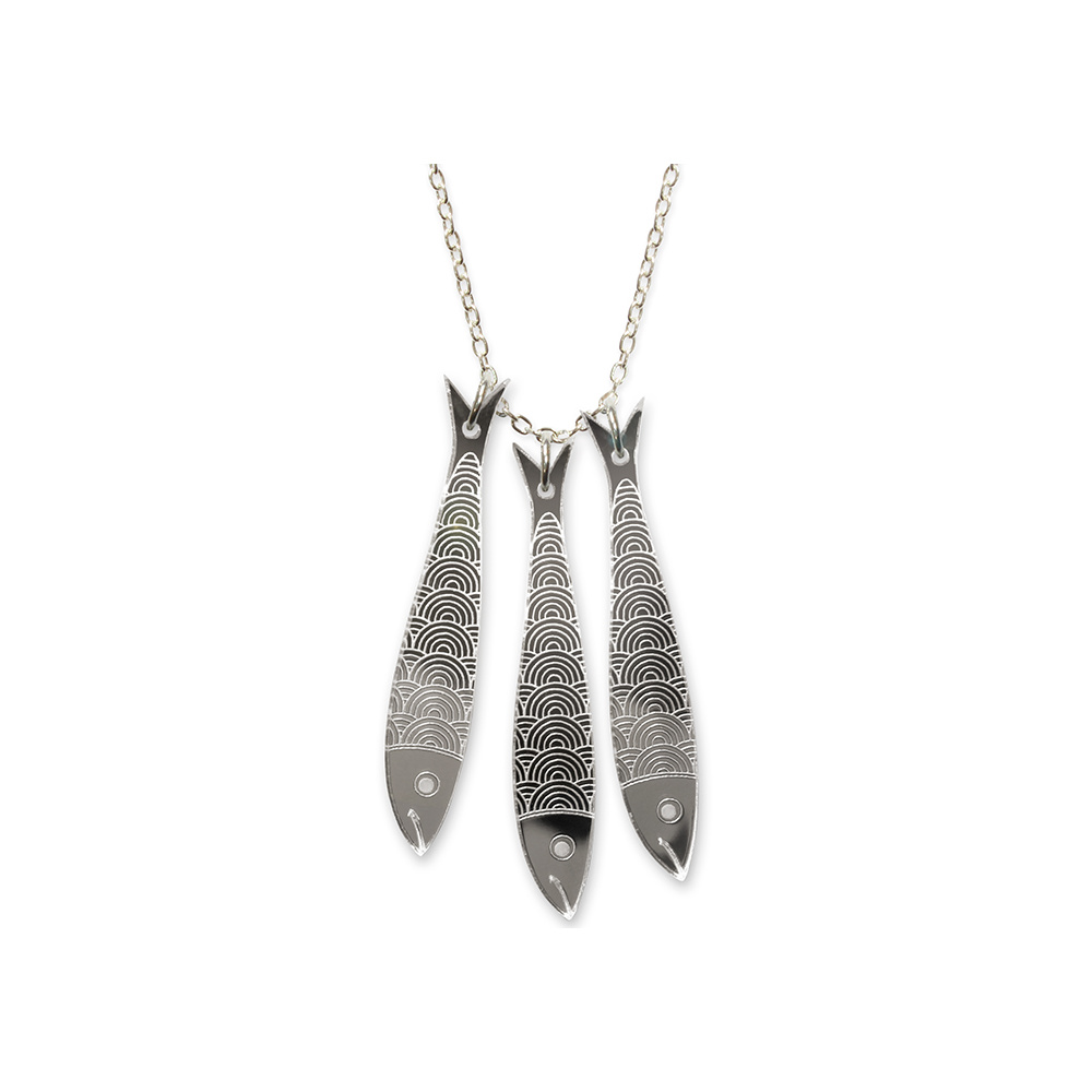 triple sardine necklace