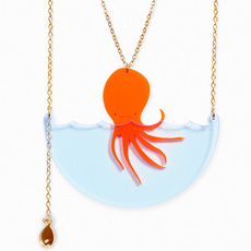'Sea Creature' Octopus Necklace