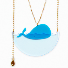 'Sea Creature' Whale Necklace