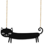 Laser cut cat necklace