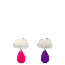 'Raincloud' Silver Earrings
