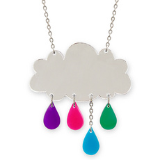 'Raincloud' Silver Necklace