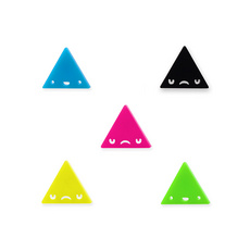 'Dont Be Square' Coloured Triangle Face Stud Earrings