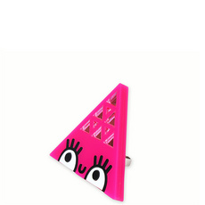 'Dont Be Square' Large Pink Triangle Ring