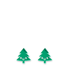 Doodllery Christmas Tree earrings
