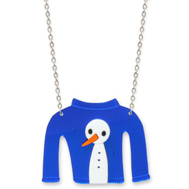 Snowman Christmas Jumper Necklace