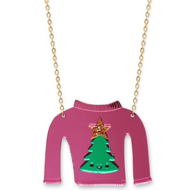 Christmas Tree Christmas Jumper Necklace