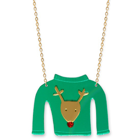 Reindeer Christmas Jumper Necklace