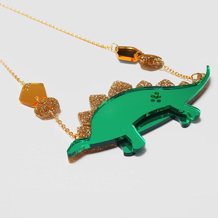 Jurassica Stegosaurus Necklace Little Moose Quirky