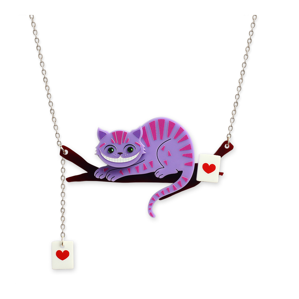 Cheshire cat necklace little moose quirky jewellery for Quirky accessories