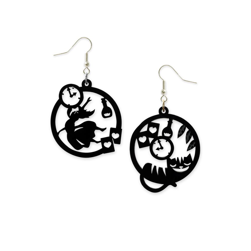 Silhouette Earrings: Wonderland Silhouette Hoop Earrings