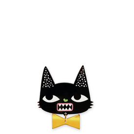 'Idol Eyes' Black Cat Brooch