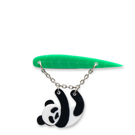 Panda Dangly Brooch