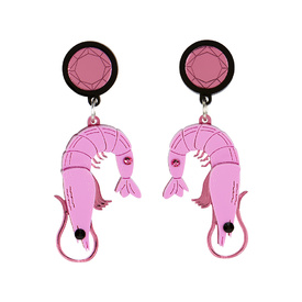 Prawn Dangly Earrings