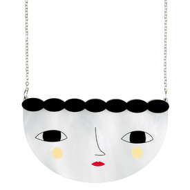 'Faces' Large Face Necklace