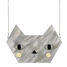 'Faces' Large Cat Necklace