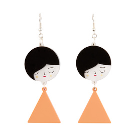 'Faces' Dangly Earrings