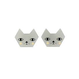 'Faces' Cat Stud Earrings