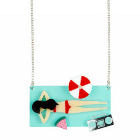 'Beach Life' Sunbathing Necklace