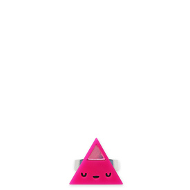 'Dont Be Square' Mini triangle ring - in 7 different colours