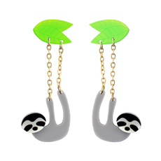 Dangling Sloth Earrings