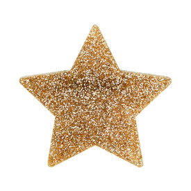 Glitter Gold Star Brooch