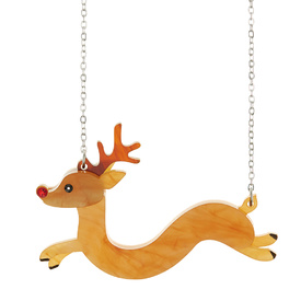 Sausage Reindeer Necklace