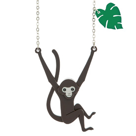 Spider Monkey Pendant Necklace