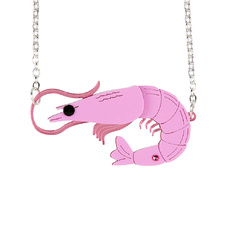 Prawn Pendant Necklace