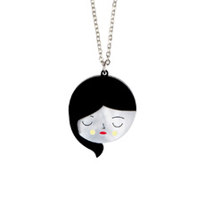 'Faces' Pendant Necklace