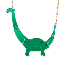 'Jurassica' Small Apatosaurus Necklace