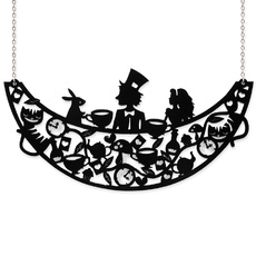 Tea Party Silhouette Necklace