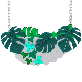 Houseplant Large Leaves Necklace