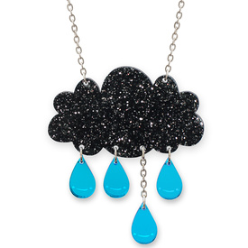 'Raincloud' Glitter Necklace