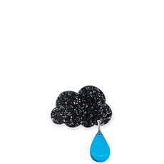 'Raincloud' Small Glitter Brooch