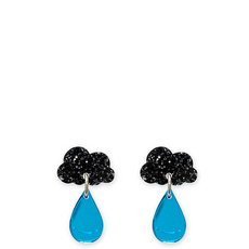 'Raincloud' Glitter Earrings