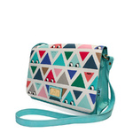 Cartoon triangle print handbag