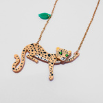 Easy to wear Leopard pendant necklace