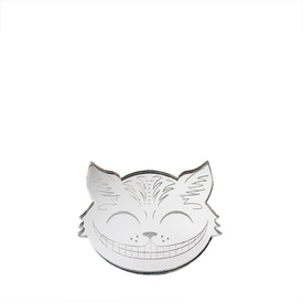 Cheshire Cat Silver Brooch