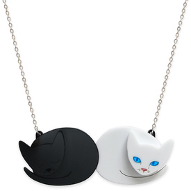 'Domino' Cat Duo Necklace